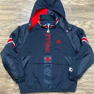 90's Starter Chicago Bulls Pullover Puffer Jacket
